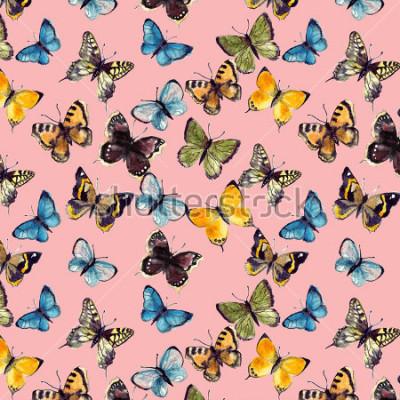 Naklejka akwarela motyl wzór