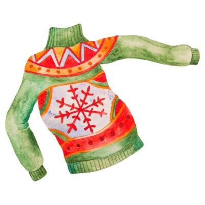 Naklejka Akwarela zimowy sweter