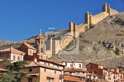 Naklejka Albarracin, średniowieczne miasto w Teruel, Hiszpania