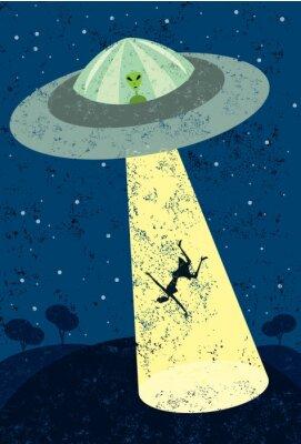 Naklejka Alien Abduction