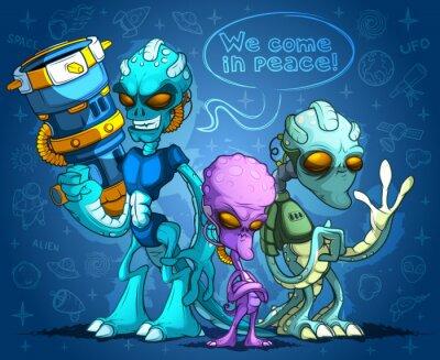 Naklejka Alien Invaders