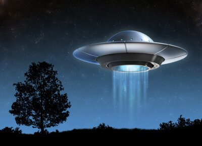 Naklejka Alien statek kosmiczny