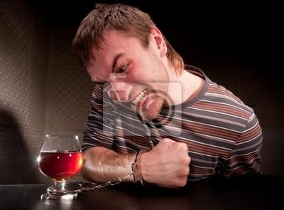 Naklejka Alkoholowy zablokowana do szkła alkoholu