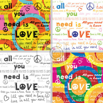 All You Need Is Love(Set of 4 Seamless Backgrounds )