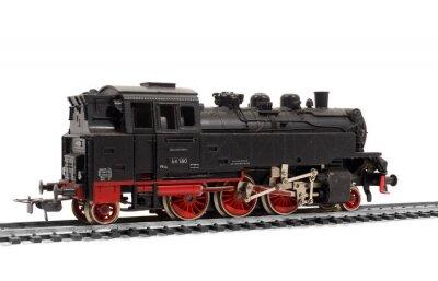 Naklejka alte Modelleisenbahn Dampflok, lok, lokomotive