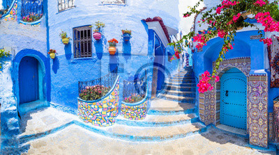 Naklejka Amazing street and architecture of Chefchaouen, Morocco, North Africa