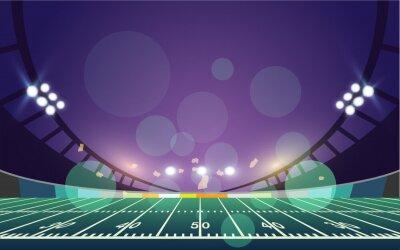Naklejka American football arena field. vector design.