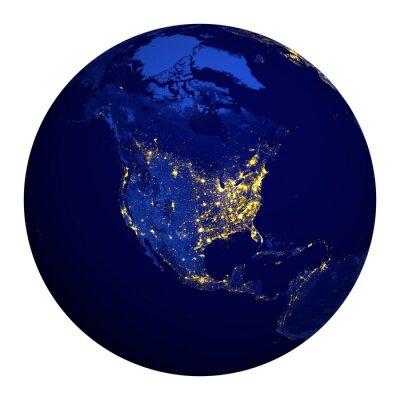 Naklejka Ameryka Północna.