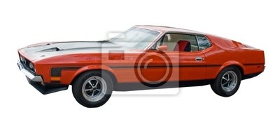 Amerykański Muscle Car czerwony