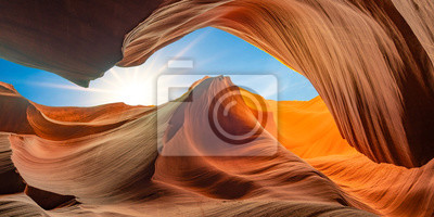 Naklejka antelope canyon in arizona - background travel concept