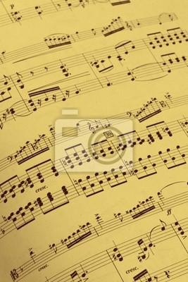 Antico spartito musicale