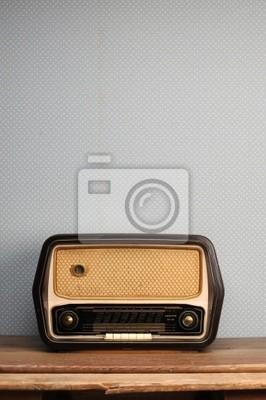 Antique Radio na tle archiwalne