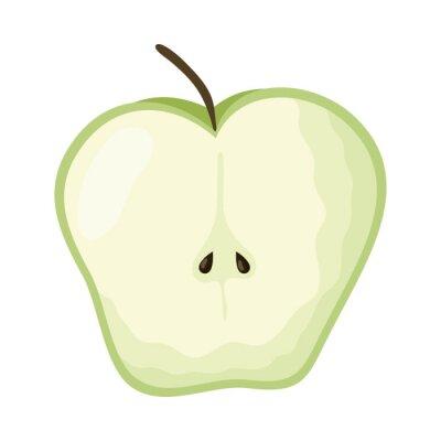 Naklejka apple fresh fruit healthy icon