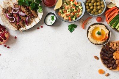 Naklejka Arabic and Middle Eastern dinner