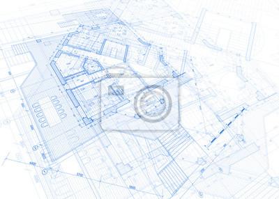Naklejka Architektura plan - plan domu / ilustracji wektorowych