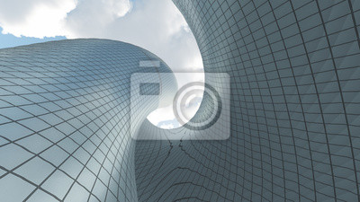 Naklejka Architektura współczesna