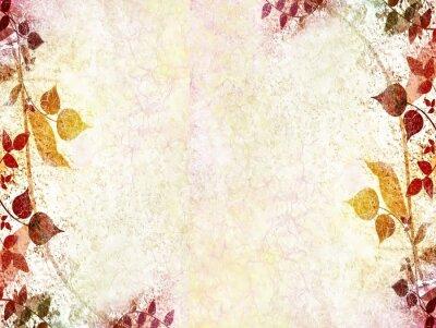 Naklejka Archiwalne ramki kwiaty