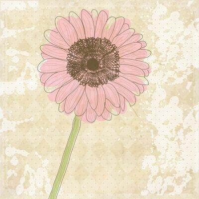 Naklejka Archiwalne starych papieru tła z kwiatów, wektor tekstury