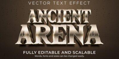 Naklejka Arena editable text effect, battle and warrior text style