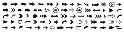 Naklejka Arrow icon. Mega set of vector arrows