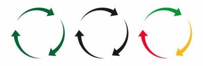 Naklejka arrow rotation icon