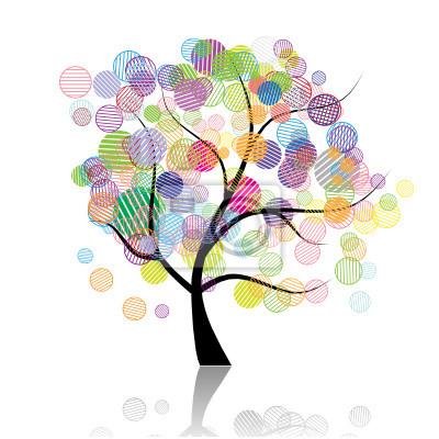 Naklejka Art drzewo fantazja