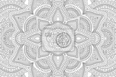 Naklejka Art for adult coloring book with abstract pattern
