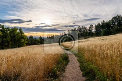 Naklejka Arthur's Rock Trail w Fort Collins, Kolorado