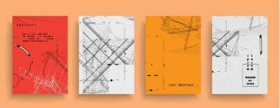Naklejka Artistic covers design. Creative colors backgrounds. Trendy futuristic design