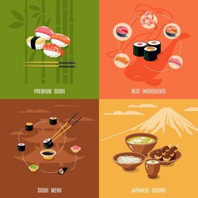 Naklejka Asian Food Design Concept