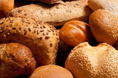 Naklejka Asortyment upieczony chleb tle