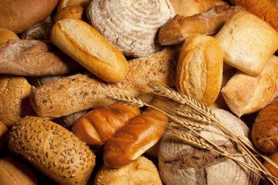 Naklejka Asortyment upieczony chleb z pszenicy