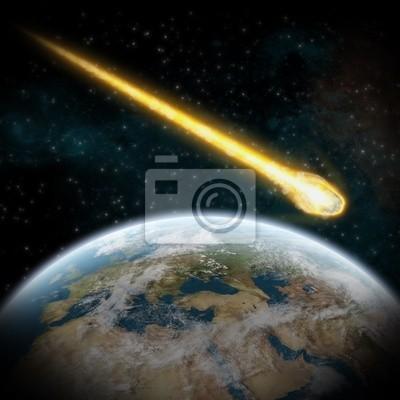 Naklejka Asteroid and Earth: uderzenia meteorytów w Europie