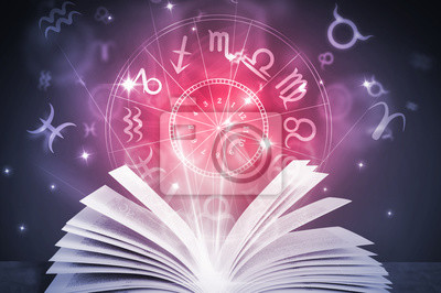 Naklejka astrologia horoskop książki