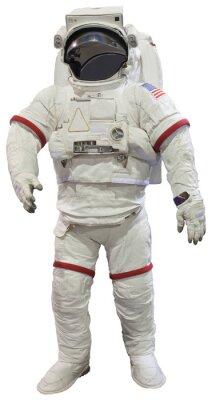 Naklejka Astronauci na białym