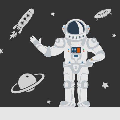 Naklejka Astronauci w kosmosie
