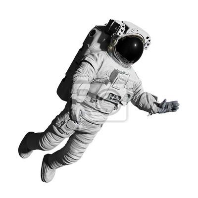 Naklejka astronaut during space walk, isolated on white background