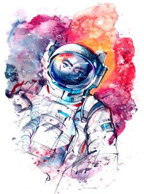 Naklejka astronauta