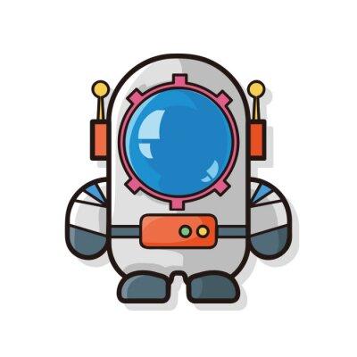 Naklejka astronauta Doodle