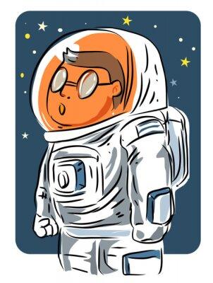 Naklejka Astronauta kreskówki