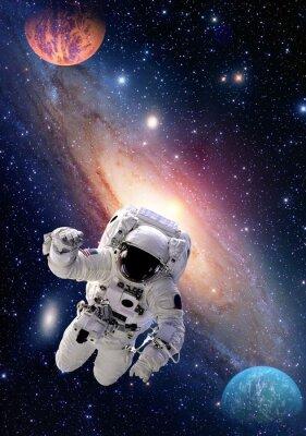 Naklejka Astronauta Spaceman zewnętrzna przestrzeń ludzi galaxy planeta układu słonecznego wszechświata. Elementy tego zdjęcia dostarczone przez NASA.