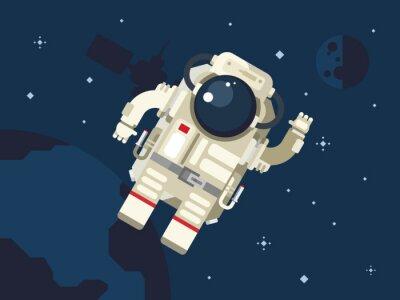 Naklejka Astronauta w przestrzeni kosmicznej
