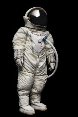 Naklejka astronautów na czarnym tle
