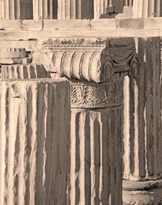 Naklejka Ateny - Szczegóły kapitału Ionic na Akropolu.