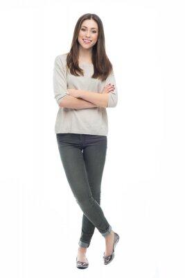 Naklejka Atrakcyjna młoda kobieta, stojąca