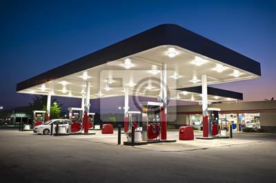 Naklejka Attractive Gas Station Convenience Store