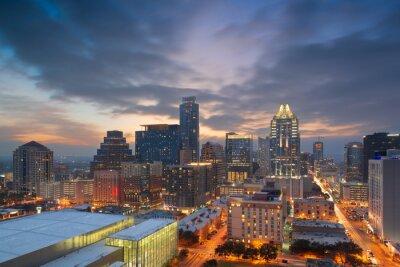 Naklejka Austin, Texas, USA Downtown Cityscape
