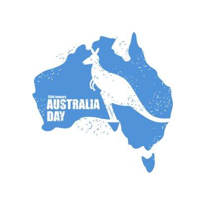 Naklejka Australia dni. Narodowy Patriotyzm w Australii. Mapa c