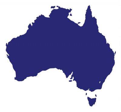 Naklejka Australia Sylwetka