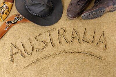 Naklejka Australia w tle